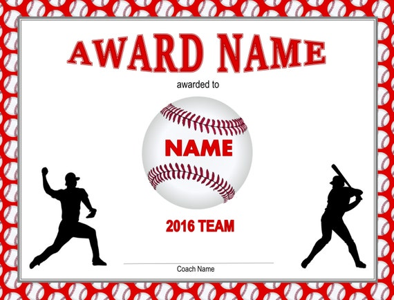 Printable Baseball Certificates Idealstalist