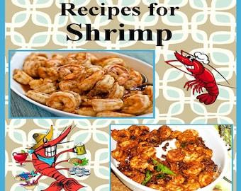 574 Shrimp Recipes E-Book Cookbook Digital Download