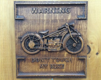 Personalized Wood Carving - For the Love of Bike