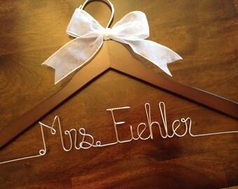 CYBER SALE Wedding hanger, Bride hanger, Bridesmaid hanger, Personalized wedding hanger, Wedding dress hanger, Custom hangers
