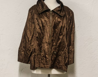 bronze lightweight jacket