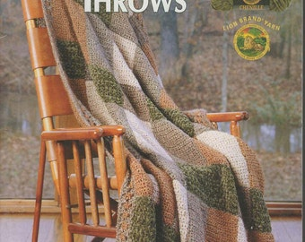 Thick & Quick Throws Crochet Book -- Leisure Arts -- #3721