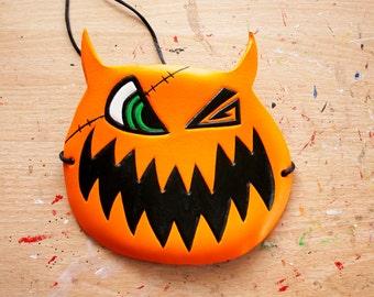 Kingdom Hearts Sora's Halloween Town Pumpkin mask/hat - Made to Order