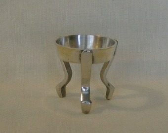 One silver antiqued toned brass Egg stand, Ukrainian egg stand, Pysanky stand