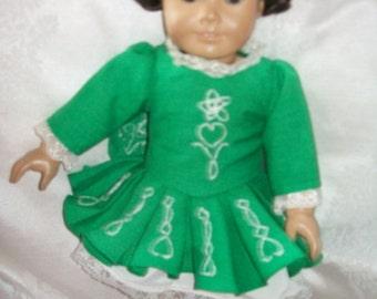Irish folk dancer costume for your American girl doll