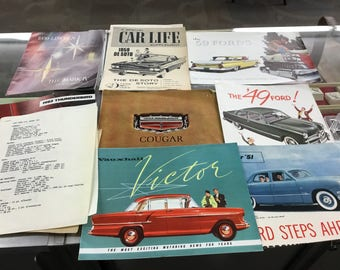Lot of vintage ford and mercury magazines