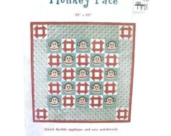 Sock Monkey Design Quilting Pattern | NIP Monkey Face Quilt Blocks Pattern