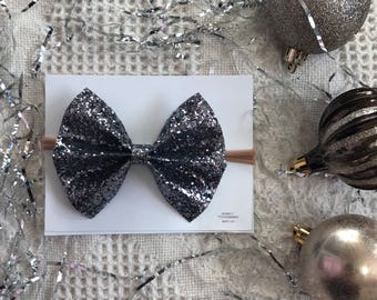 Black/ silver chuncky sparkle