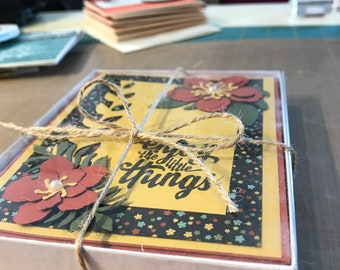 Handmade greeting cards with matching envelopes A2 size