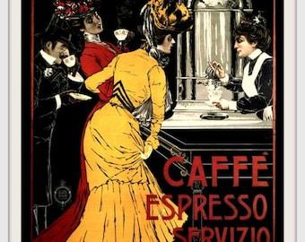 Art Print Italy Coffee Advert 1890s