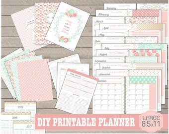 "Pretty Printable Planner Undated in ""Large Size"""