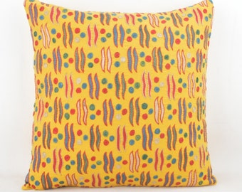 "SUZANI pillow, SILK pillow 43X30 cm , 17""X12"", Cotton back with Zip closure, Dry cleaning, Decorative pillow."