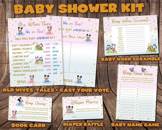 Disney Baby Shower - Disney Shower Kit - Disney Shower Set - Baby Shower Kit - Baby Shower Set - Disney Baby - Gender Reveal - Diaper Raffle