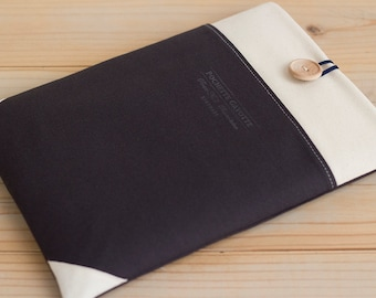 12 inch New Macbook, iPad Pro case11 inch Macbook Air case, Surface Pro 3 Padded sleeve Custom Laptop Netbook sleeve /  Navy Cream