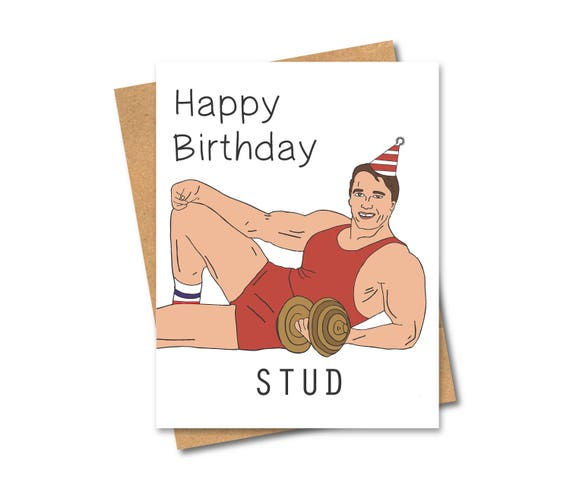Arnold schwarzenegger birthday card stud body builder bookmarktalkfo Image collections