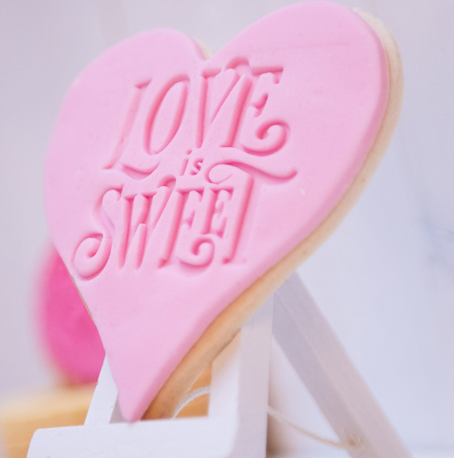 Love is sweet Cookie stamp / Fondant stamp