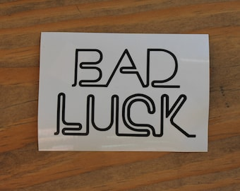 Retro Bad Luck Vinyl Decal Sticker