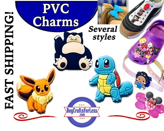 PVC Charms, Pikachu * 20% OFF Any 4 PVC Charms * 99cent Shipping * For Shoes, Hair, Pins-Choose back-Button, Pin, Slider, Hair Clip, Velcro