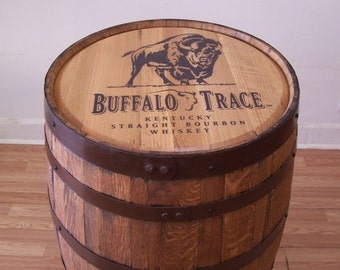 Whiskey Barrel Buffalo Trace Sanded and Finished -FREE SHIPPING