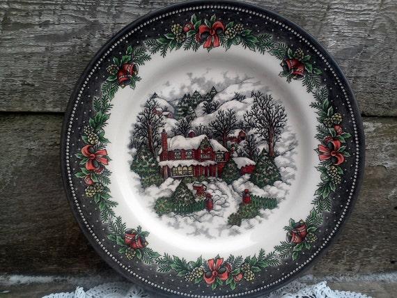 Like this item? & Royal Stafford Christmas Cabin Lodge Dinner Plate