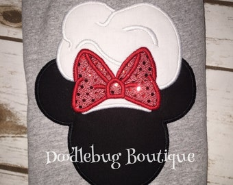 Chef Minnie Mouse shirt with name