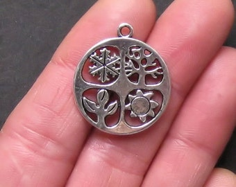 4 Four Seasons Charm Antique  Silver Tone Absolutely Stunning -SC795