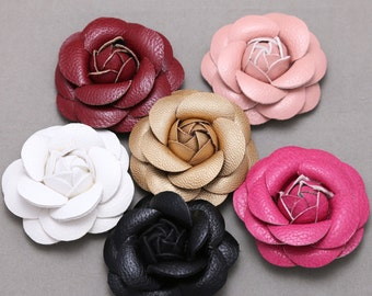 Leather flowers etsy 2 pieces rose flower white flowers black flowers pink flowers red mightylinksfo