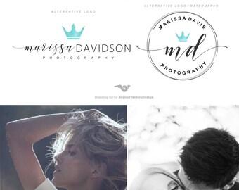 Crown logo, Photography  Logo design, Branding kit, Photography logos and watermarks, Branding package, Watercolor logo, Premade logo 138