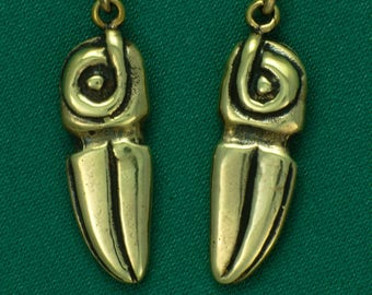 Stone Raven~ Columbia River Gorge ~ Bronze~ Earrings