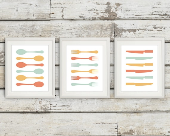Fork and Spoon Wall Decor Fork and Spoon Wall Art Fork Spoon