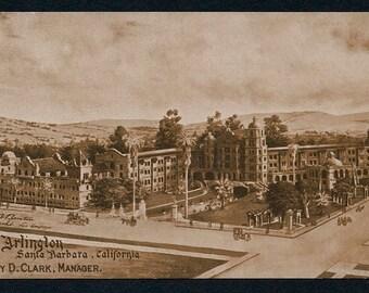 Santa Barbara, California Postcard - Vintage Sepia Post Card of the Arlington Hotel