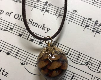 Real Pine cone necklace