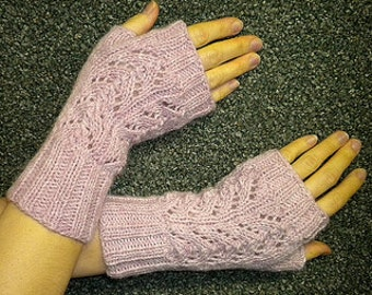 Instant Download Knitting PATTERN PDF Hand warmers - fingerless gloves mittens