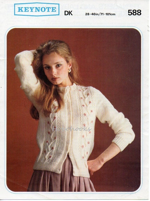 womens cardigan knitting pattern embroidered cardigan pattern fitted ...