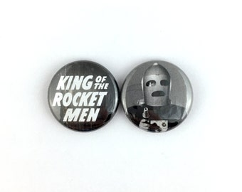 "King of the Rocket Men (1949) - 1"" Button Pin Set"