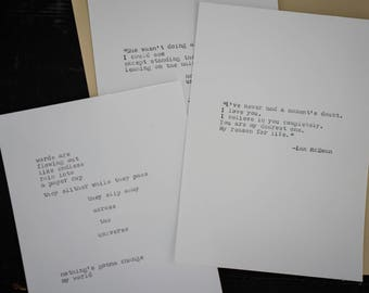 """Custom Typewriter Quote - """"Your Text Here"""""""