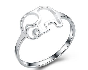 ELEPHANT RING, LUCKY ring, pinkie ring, children' gift