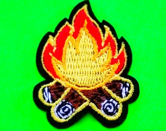 Adult Merit Badge Kitschy Fun Campfire Building Sewing Machine Rocket Star Astronomy Fully Embroidered Iron or Sew On Patch - More Styles