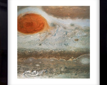 Space Giclée Fine Art Print Jupiter Great Red Spot Nasa Juno Iconic Astronomy