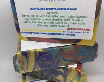 Fruit Slices scent Cold Process Artisan Soap