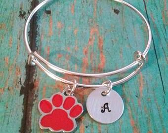 Child's Expandable Bangle Bracelet - Paw Charm - Dog Paw - Gift for Little Girls - Little Girl Gift - Birthday Gift for a Girl