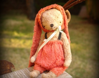 PDF Epattern for 9 inch Handmade Artist Teddy Bear in Bunny's pants and cap by Sasha Pokrass
