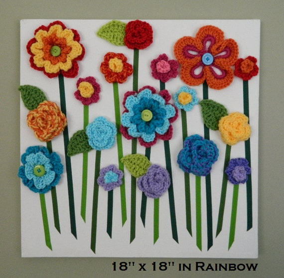Flower Wall Hanging 3D Flower Wall Art Baby Girl Nursery