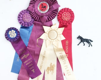 Vintage Assorted (5) Horse Show Ribbons