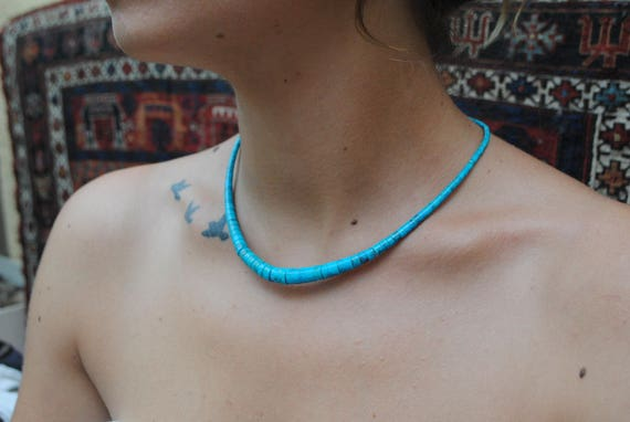 Turquoise necklace - boho necklace - woman necklace - vintage necklace - native american jewelry - boho style