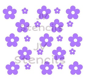 Pretty Flowers Stencil (2pc)