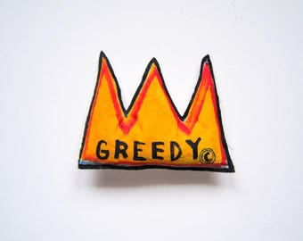 Graffiti art Basquiat primitive pop art hip hop black music 80' urban crown unisex housewarming gift birthday gift graduation anniversary