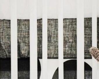 Spot On Charcoal Crib Baby Bedding | Crib Sheet