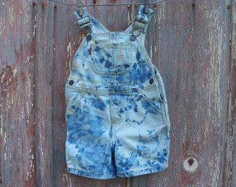 Size 24 Months Distressed Denim Shorts Overalls