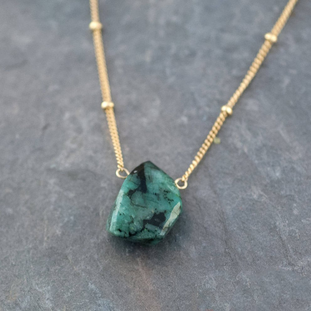 zoom dadx necklace rough fullxfull raw il stone emerald crystal listing